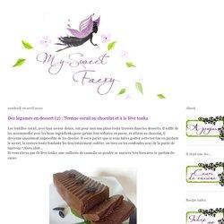 My Sweet Faery: Des légumes en dessert (2) : Terrine corail au chocolat et à la fève tonka