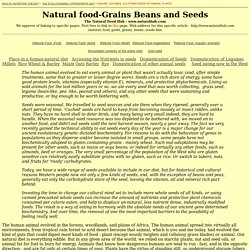 Legumes, grains and other seeds in human evolution.
