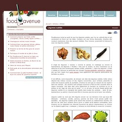Légumes oubliés - Article