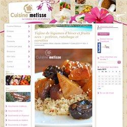 Tajine de légumes d'hiver et fruits secs – potiron, rutabaga et carottes