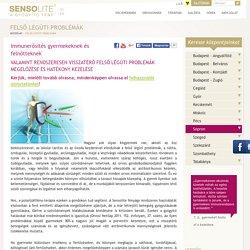 Felső légúti betegségek – Sensolite