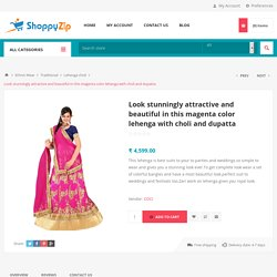 Magenta Color Lehenga With Choli