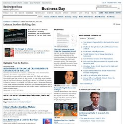 Lehman Brothers Holdings Inc. News
