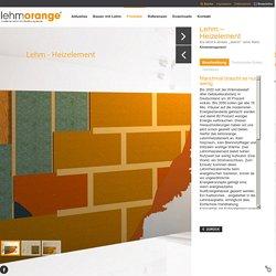 Lehmorange - moderne Lehmbauplatten, Lehmplatten, Lehm, Lehmbau, Lehmbaustoffe für den Trockenbau - Produkte