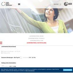 Step into German - Für Lehrer - Lehrermaterial Deutsch(land)-Goethe-Institut