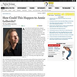 Fall Fashion 2009 - How Could Annie Leibovitz Be on the Verge of Financial Collapse?