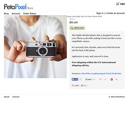 Leica Look-Alike Skin for the iPhone 4 - PetaPixel Store