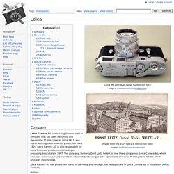 Leica - Camera-wiki.org - The free camera encyclopedia