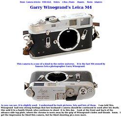 Leica M4 Garry Winogrand