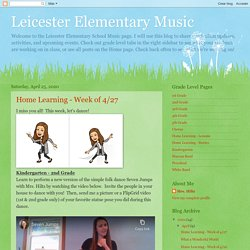 Leicester Elementary Music: 2020