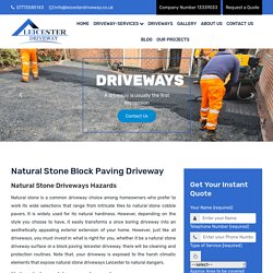 Get the Best Natural Stone Block Paving Leicester