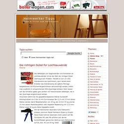 Die richtigen Dübel für Leichbauwände - Heimwerker Tipps
