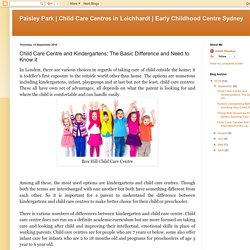 Early Childhood Centre Sydney: Child Care Centre and Kindergartens: The Basic Difference and Need to Know it