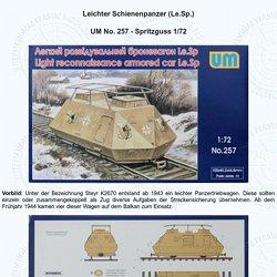 Leichter Schienenpanzer (Le.Sp.) - UM - 1/72