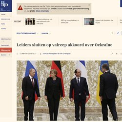 Leiders sluiten op valreep akkoord over Oekraïne