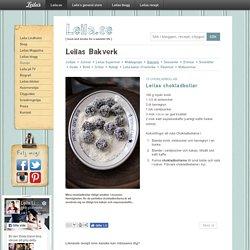 s chokladbollar / Bakverk ~ Recept