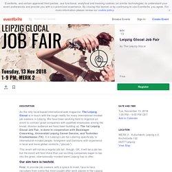 Leipzig Glocal Job Fair Tickets, Tue, Nov 13, 2018 at 1:00 PM