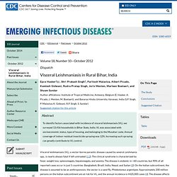 CDC EID – OCT 2012 – Visceral Leishmaniasis in Rural Bihar, India