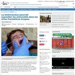IRIN 03/09/13 La leishmaniose pourrait exacerber les animosités dans les villes frontalières turques