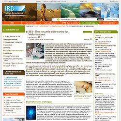 IRD 16/09/11 Une nouvelle cible contre les leishmanioses