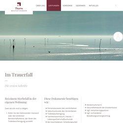 Leistungen - Thorns Bestattungen, Wunstorf