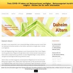 Leistungen von Daheim Altern in Saalfelden - Pinzgau