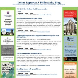 Leiter Reports: A Philosophy Blog