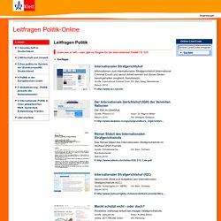 Leitfragen Politik - Lehrwerk Online - Leitfragen Politik-Online