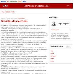 G1 - Educação - Dicas de Português