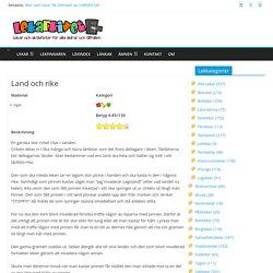 1999 - 2014 Din lekplats på nätet! - Land och rike