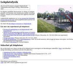Lekplatsfysik