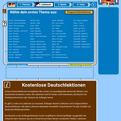 Deutsch Lektionen kostenlos und online für Kinder mit Ton