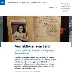 Fem lektioner som berör · Maria Björsell