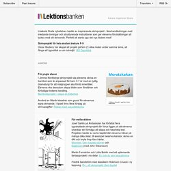 Lektionsbankens skrivprojekt