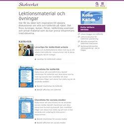 Lektionsmaterial och övningar om källkritik och säkerhet på nätet
