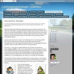 Lektionsplanering - lässtrategier