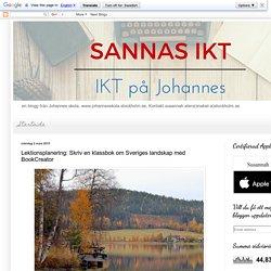 IKT på Johannes skola: Lektionsplanering: Skriv en klassbok om Sveriges landskap med BookCreator