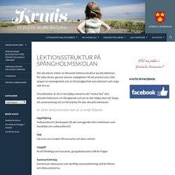 Lektionsstruktur på Spångholmsskolan