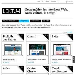 Notre métier, le design de contenus. Notre technologie, Drupal.
