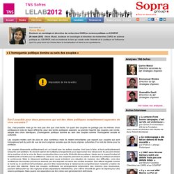 LELAB2012 «L'homogamie politique domine au sein des couples» - TNS Sofres