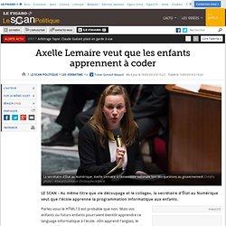 Axelle Lemaire veut que les enfants apprennent à coder