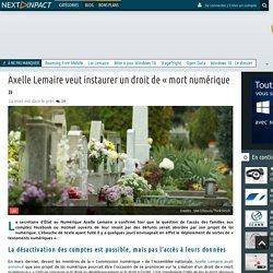 Axelle Lemaire veut instaurer un droit de « mort numérique »
