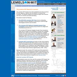 The Lemelson-MIT Awards for Invention and Innovation