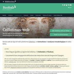 Collatinus-web - Lemmatiseur et analyseur morphologique de textes latins