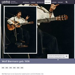 LeMO Biografie Wolf Biermann