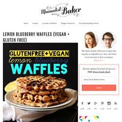 Lemon Blueberry Waffles {Vegan + Gluten Free}