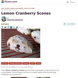 Lemon Cranberry Scones