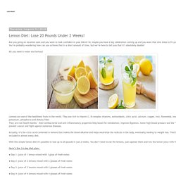 Lemon Diet: Lose 20 Pounds Under 2 Weeks!