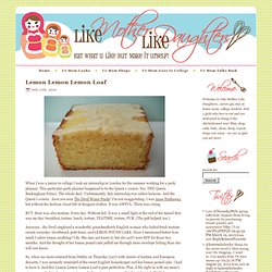 Lemon Lemon Lemon Loaf