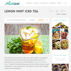 Lemon Mint Iced Tea